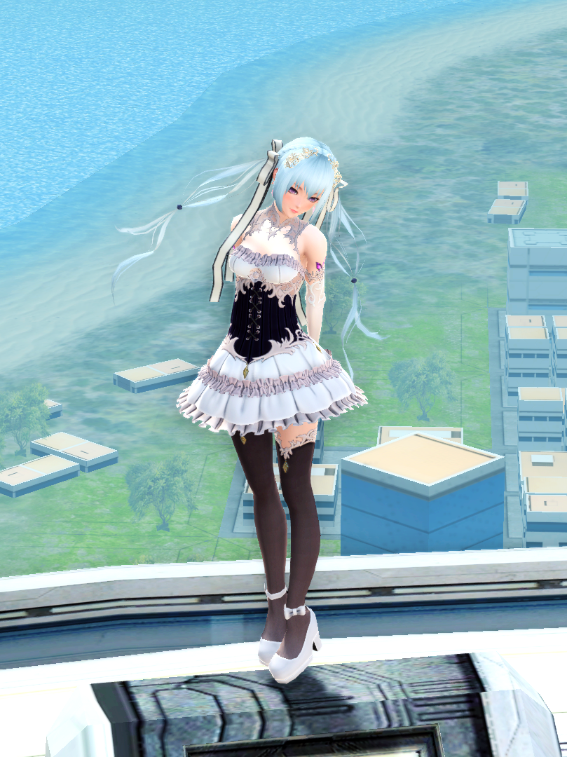 PSO2 Fashion AC Scratch Gothic Dress