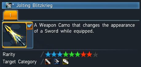 Phantasy Star Online 2 Jolting Blitzkrieg