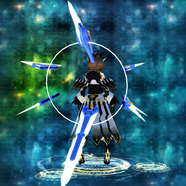 PSO2 Randall Mirage Weapon Camo Sword