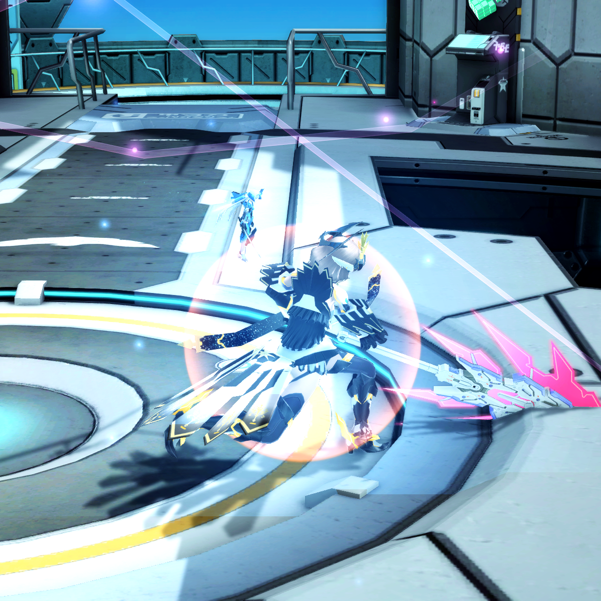 PSO2 Randall Nova Weapon Camo Slash Effect