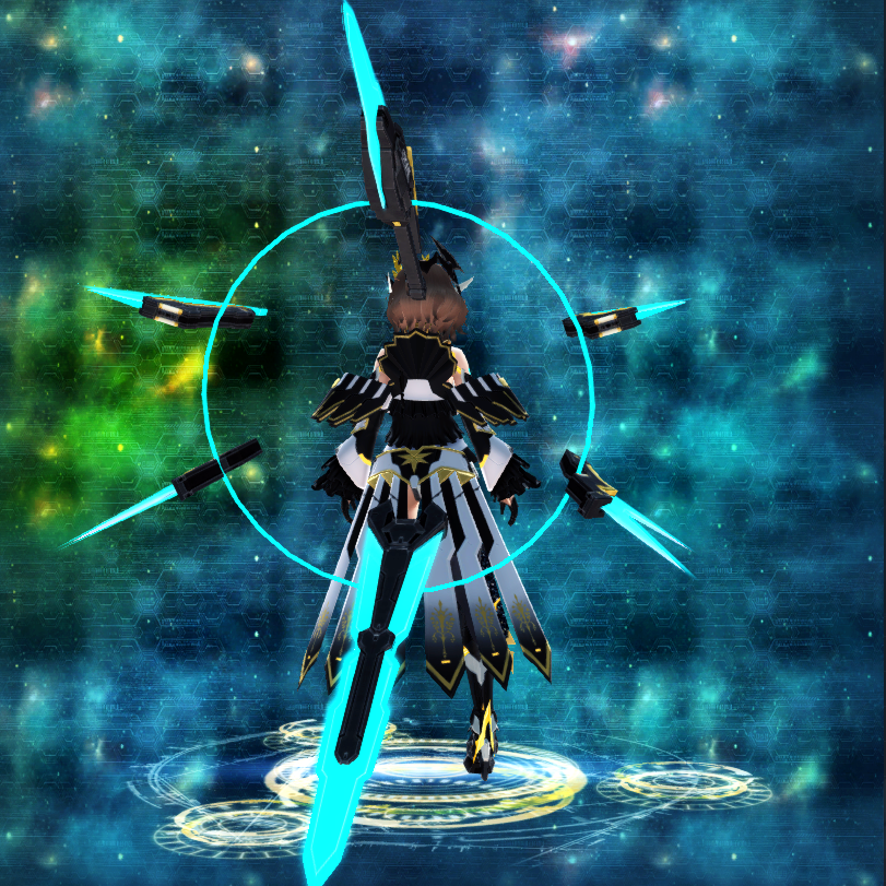 PSO2 Randall Orbit Weapon Camo Sword