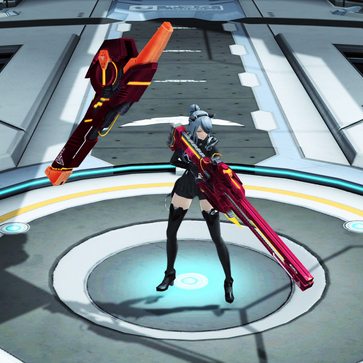 PSO2 Phantasy Star Online 2 MMORPG Sega Ilteon Dusk Megith Rifle Unsheathed