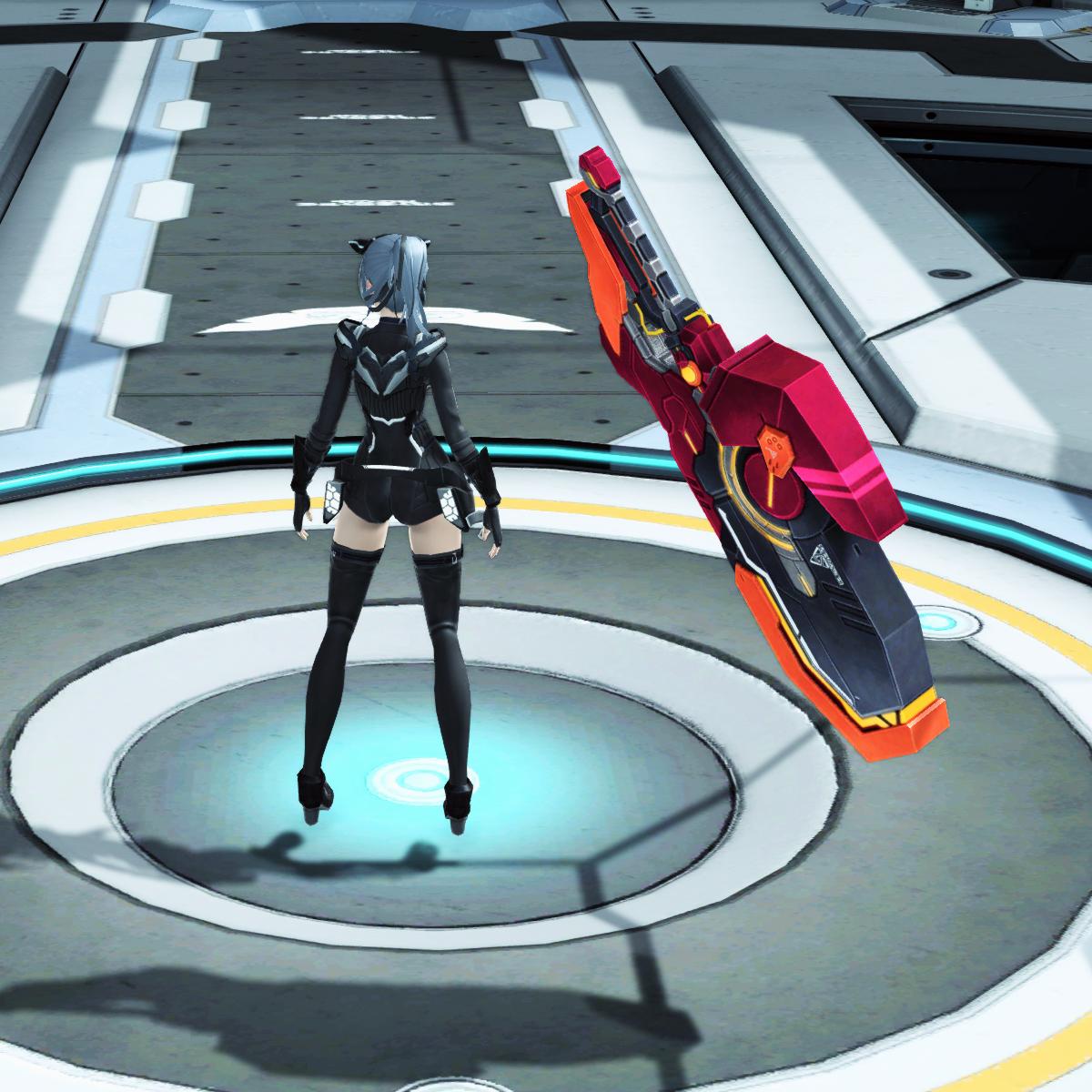 PSO2 Phantasy Star Online 2 MMORPG Sega Ilteon Dusk Megith Wand sheathed