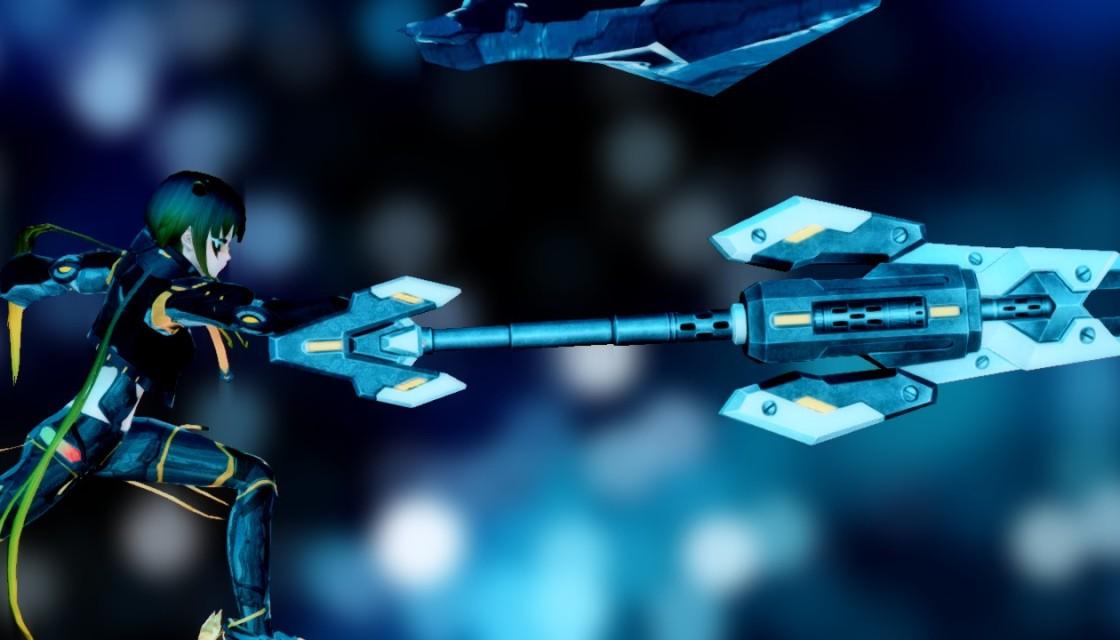 PSO2 Phantasy Star Online 2 MMORPG Sega Graf Tische Weapon Camo Showcase