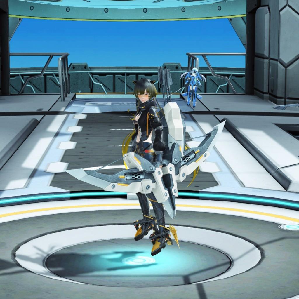 PSO2 Phantasy Star Online 2 MMORPG Sega Graf Tische Weapon Camo Bow