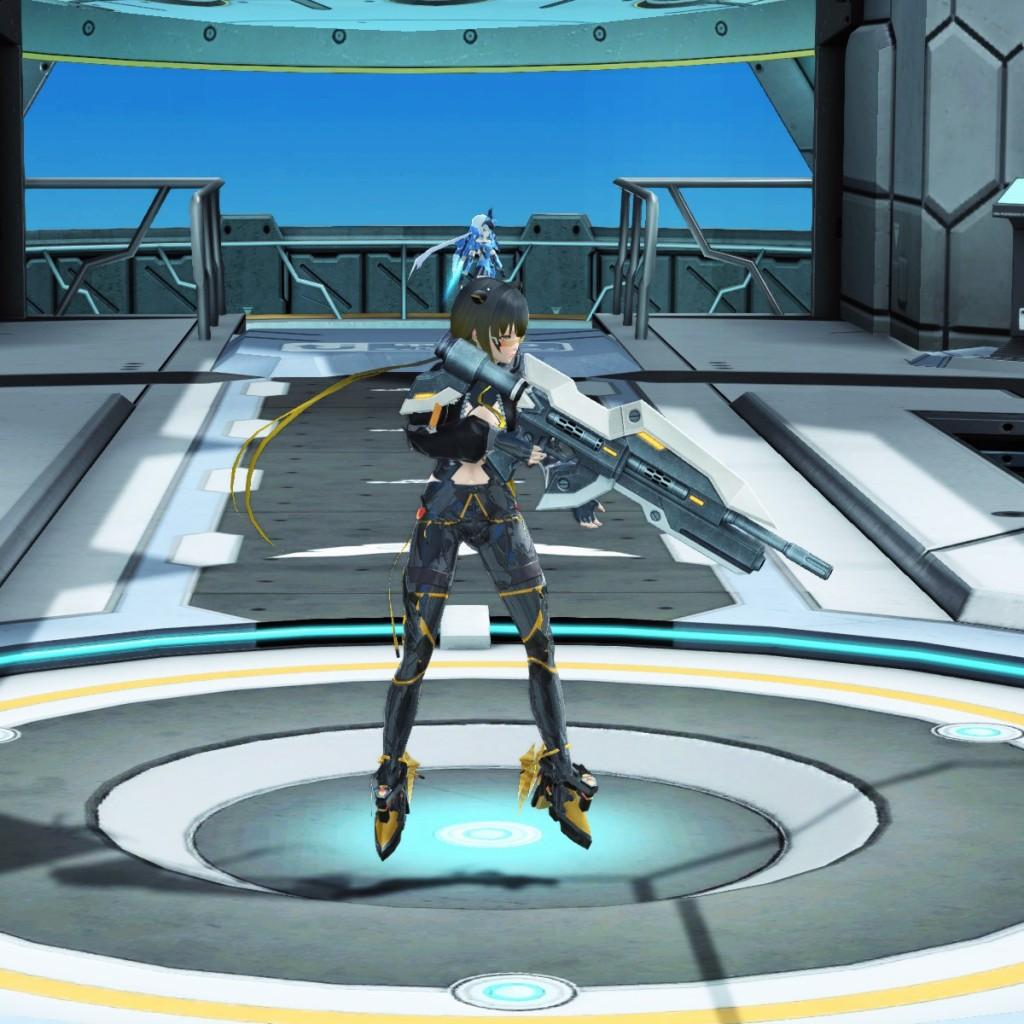 PSO2 Phantasy Star Online 2 MMORPG Sega Graf Tische Weapon Camo Rifle