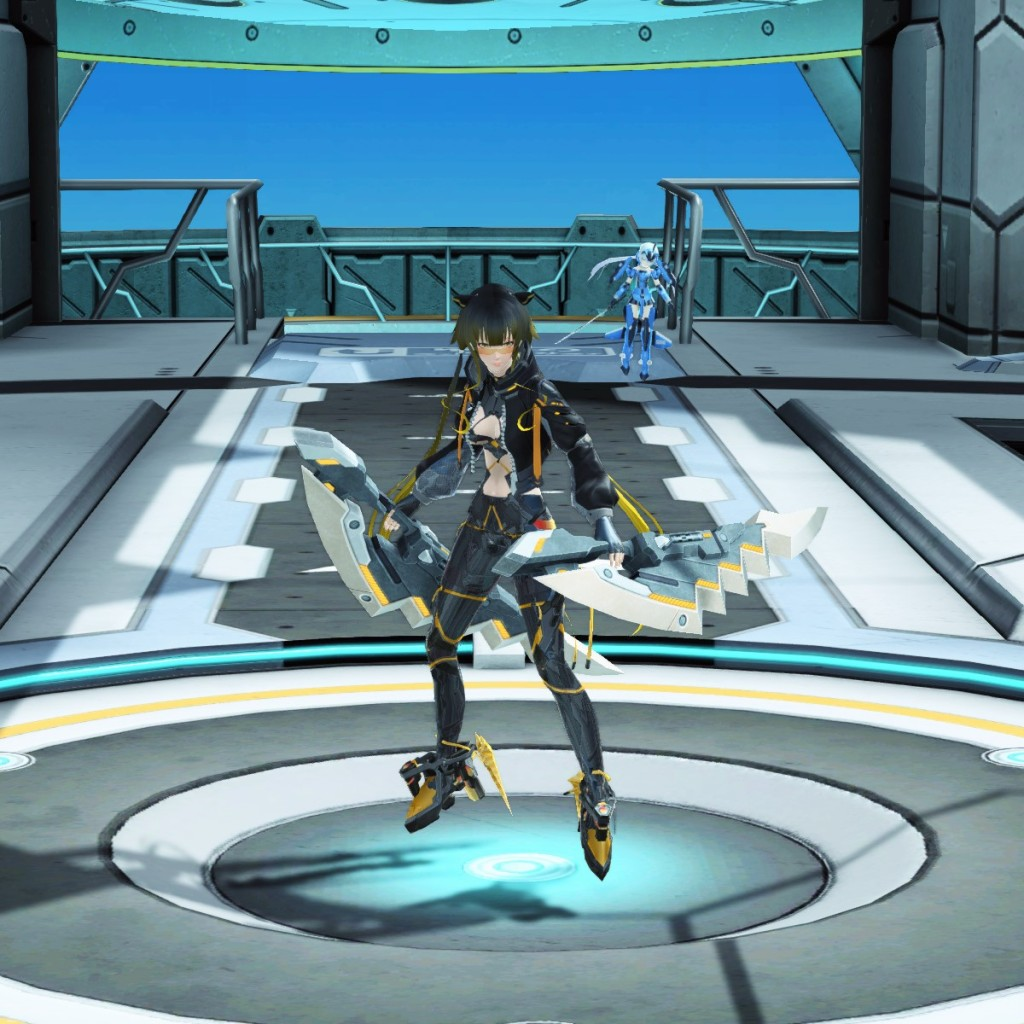 PSO2 Phantasy Star Online 2 MMORPG Sega Graf Tische Weapon Camo Twin Daggers