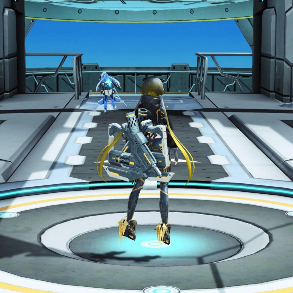 PSO2 Phantasy Star Online 2 MMORPG Sega Graf Tische Weapon Camo Twin Machine Guns