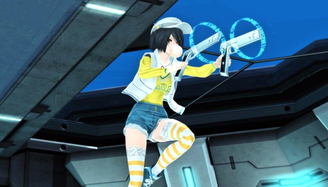 PSO2 Phantasy Star Online 2 MMORPG Sega SH Trident Mobile Terminal CAD